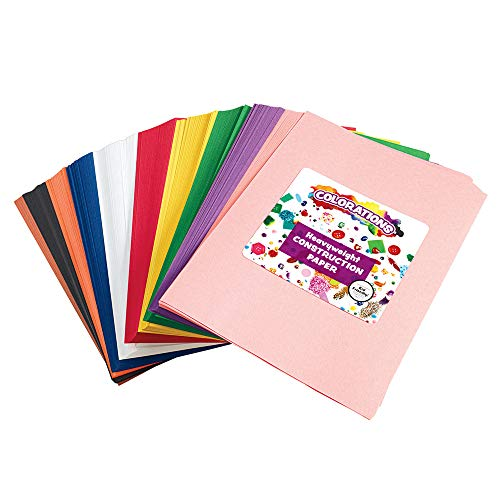 Construction Paper Pack, 10 Assorted Colors, 9″ x 12″, 600 Sheets, Heavy Weight Construction Paper, Crafts, Art, Kids Art, Painting, Coloring, Drawing, Creating, Arts and Crafts