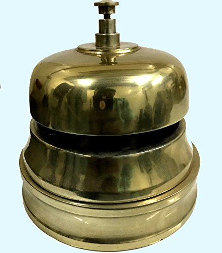 Antiques World Vintage Home Décor Collectible Large Size Heavy Art Office Desk Table Classy Quality Brass Bell AWUSABB 08