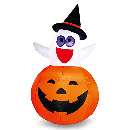 Joiedomi Halloween Inflatable Blow Up Ghost in Pumpkin for Halloween Outdoor Yard Decoration (4.5 ft)